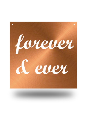 "Steel Roots Decor Copper ""Forever & Ever"" 12"" Ready To Hang"
