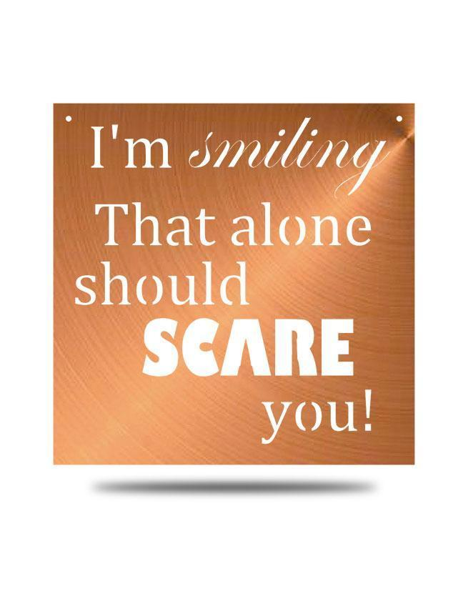 "Steel Roots Decor Copper ""I'm Smiling"" Wall Décor"