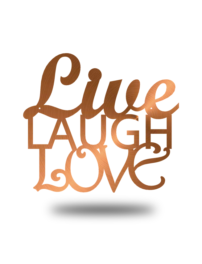 "Steel Roots Decor Copper ""Live Laugh Love"" Wall Décor"