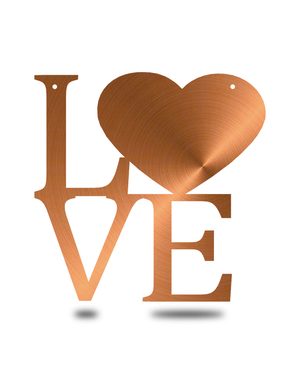 "Steel Roots Decor Copper ""Love"" Word Art Wall Décor"