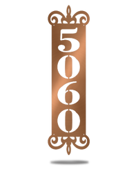 Steel Roots Decor Copper Personal House Number Plaque