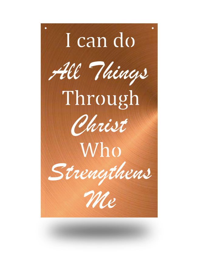 "Steel Roots Decor Copper ""Philipians 4:13"" Wall Décor"