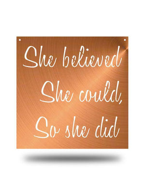 Steel Roots Decor Copper She Believed