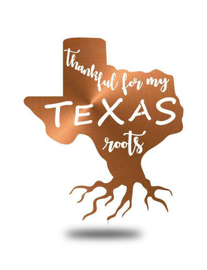 "Steel Roots Decor Copper ""Texas Roots"" Wall Art"