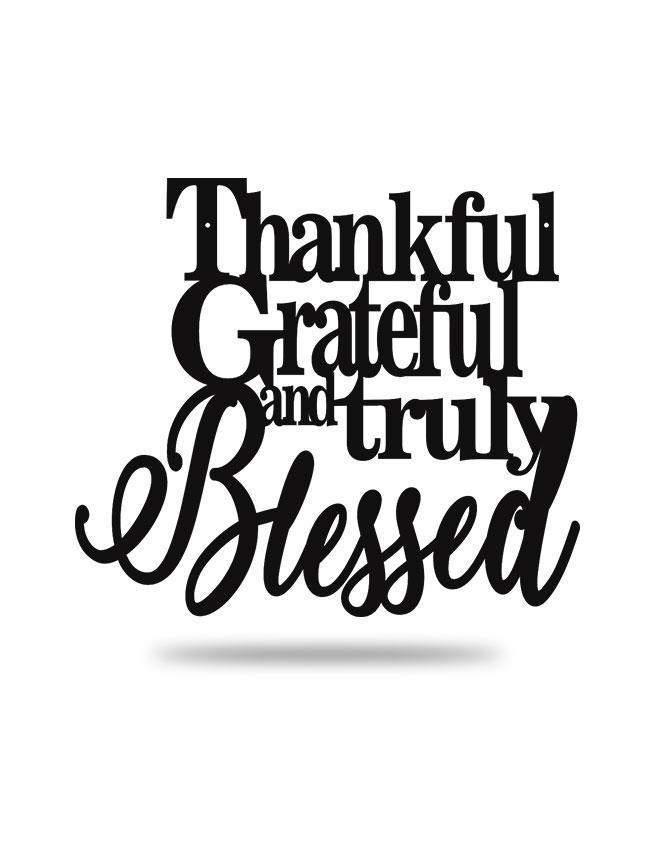 "Steel Roots Decor Copper ""Thankful Grateful and Truly Blessed"" Wall Accent"