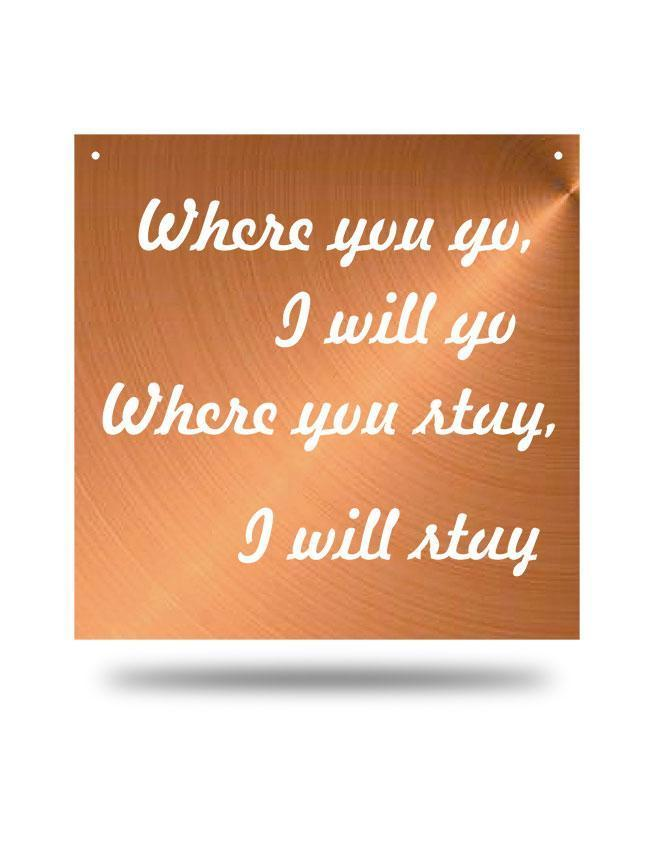"Steel Roots Decor Copper ""Where You Go"" Wall Décor"