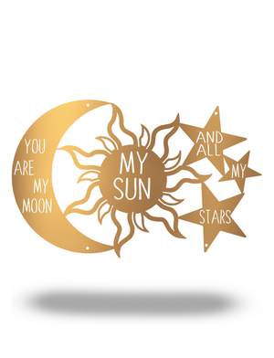 "Steel Roots Decor Copper ""You are my Moon, My Sun and Stars"" 18"""