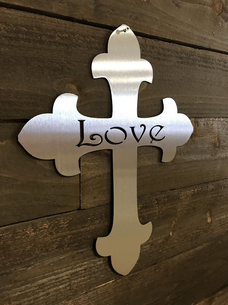"Steel Roots Decor ""Cross Love"" Wall Décor"