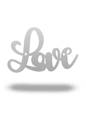 Steel Roots Decor Cursive Love *Under $10