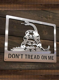 "Steel Roots Decor ""Don't tread on me"""
