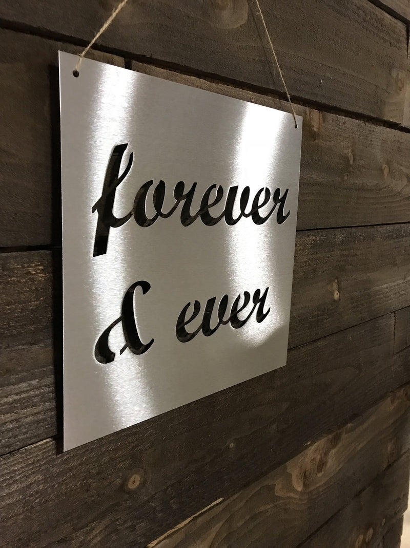 "Steel Roots Decor ""Forever & Ever"" 12"" Ready To Hang"