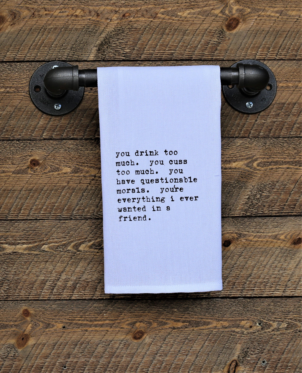 Steel Roots Decor Friends Quote Hand Towel