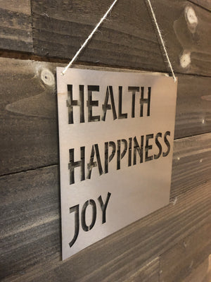 Steel Roots Decor Health happiness joy