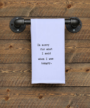 Steel Roots Decor Hungry Quote Hand Towel