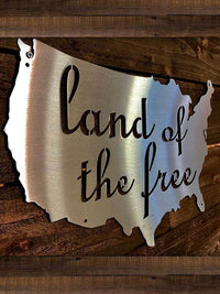 Steel Roots Decor Land Of The Free U.S. Outline