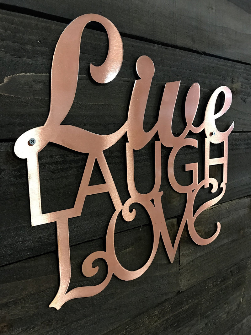 "Steel Roots Decor ""Live Laugh Love"" Wall Décor"