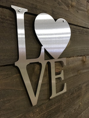 "Steel Roots Decor ""Love"" Word Art Wall Décor"