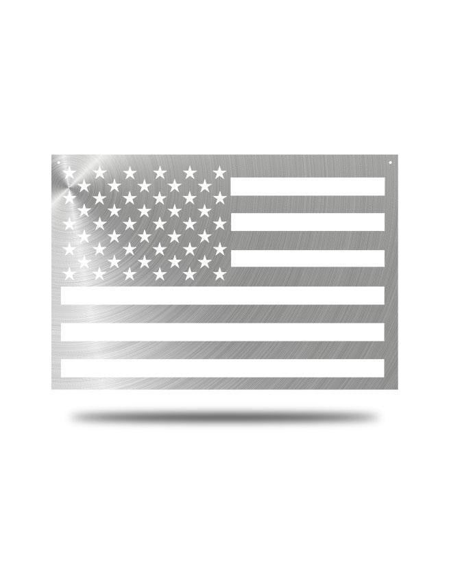 "Steel Roots Decor Polished ""American Flag"" Wall Décor 23x14"