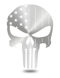 "Steel Roots Decor Polished ""American Punisher Skull"" Wall Décor"