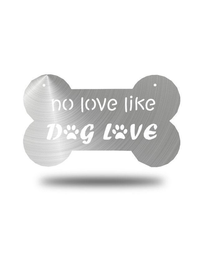 "Steel Roots Decor Polished ""Dog Love"" Wall Décor"