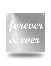 """Forever & Ever"" 12"" Ready To Hang"