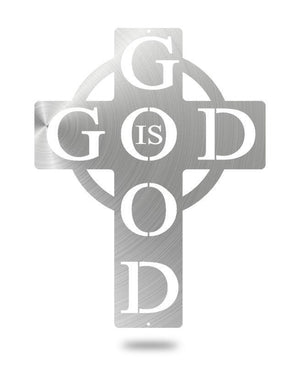 Steel Roots Decor Polished God is Good 16""