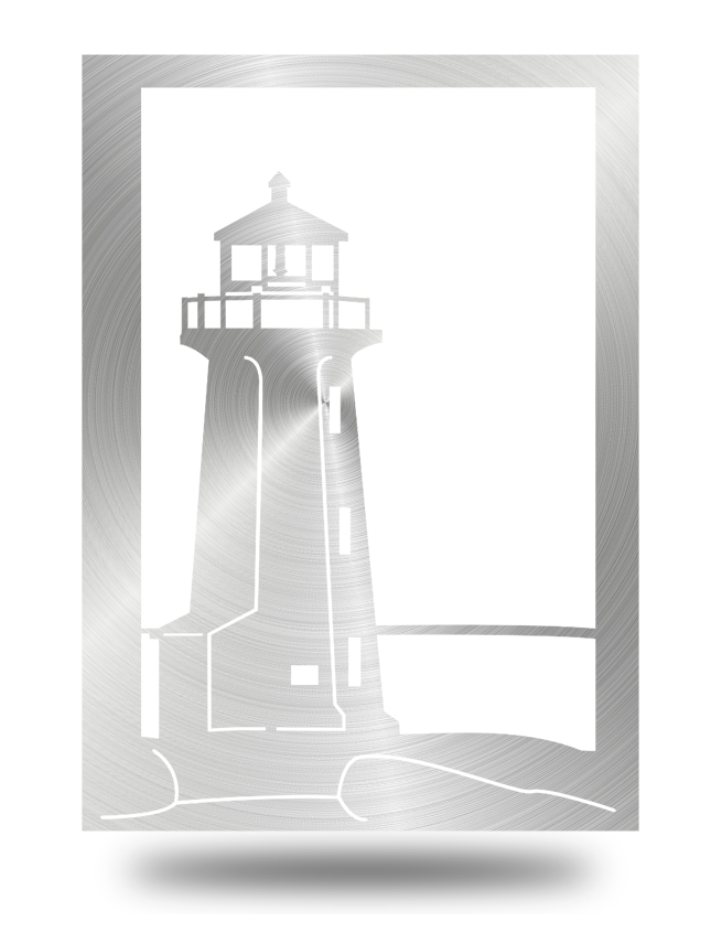 Steel Roots Decor Polished Lighthouse