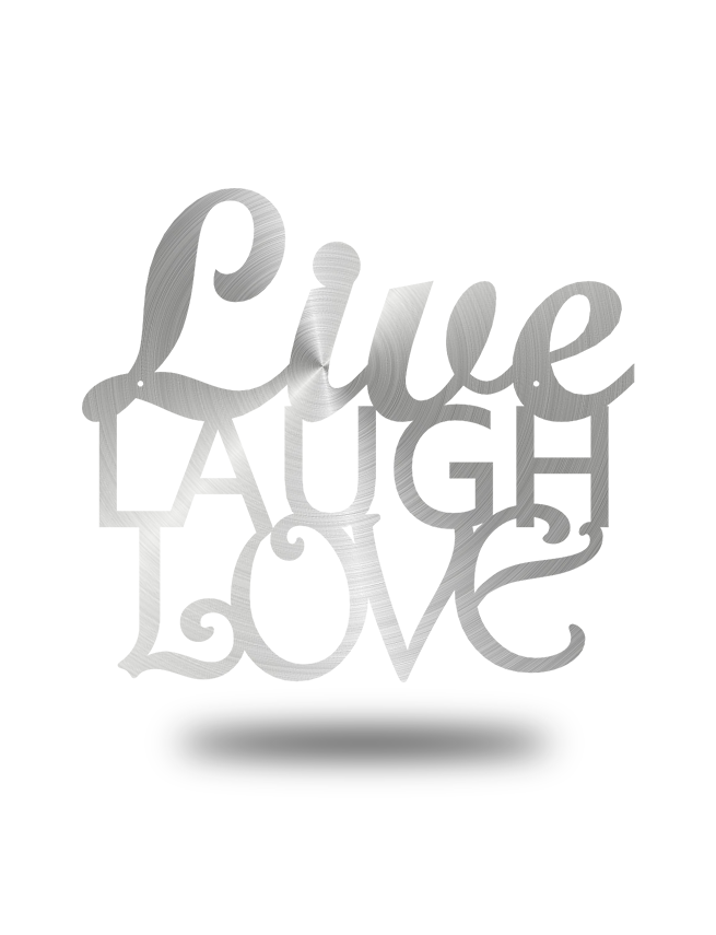 "Steel Roots Decor Polished ""Live Laugh Love"" Wall Décor"