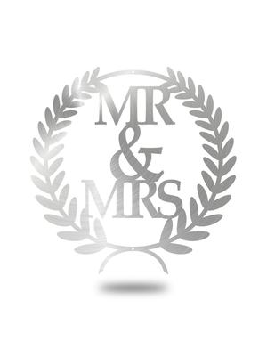 "Steel Roots Decor Polished ""Mr & Mrs"" Wreath Wall Décor"