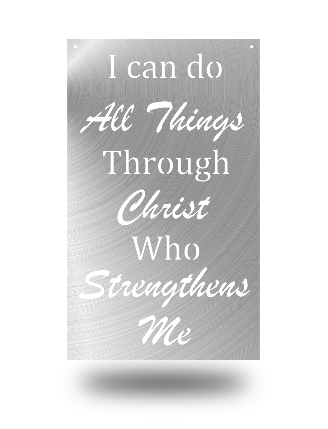 "Steel Roots Decor Polished ""Philipians 4:13"" Wall Décor"