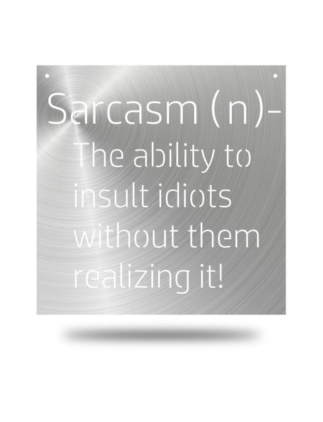 """Sarcasm"" Wall Décor"