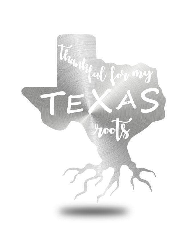 "Steel Roots Decor Polished ""Texas Roots"" Wall Art"