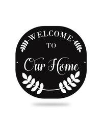 Steel Roots Decor Polished Welcome To Our Home