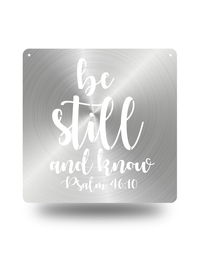 "Steel Roots Decor ""Psalm 46:10"" Square Wall Art"