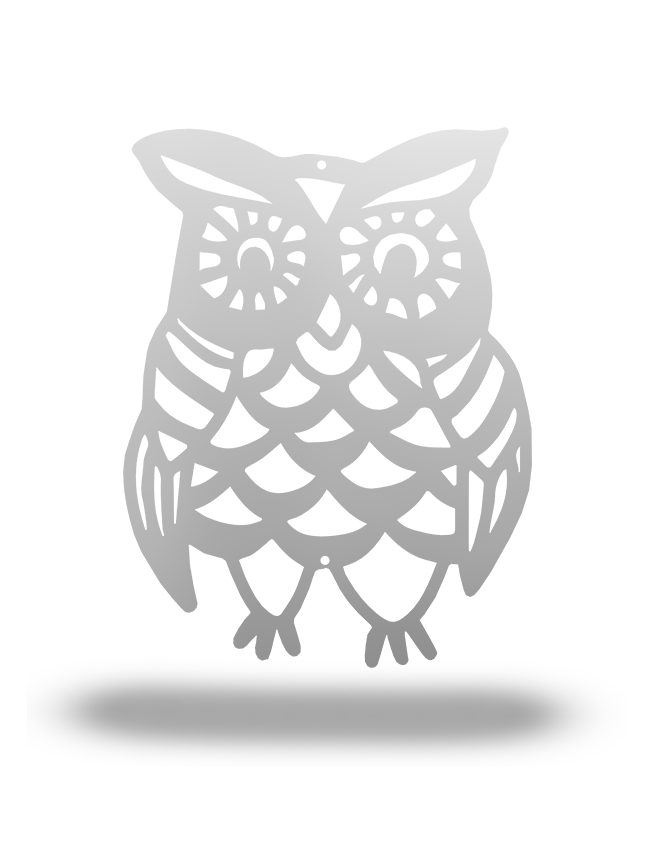 Steel Roots Decor Silver FALL OWL (Fall Collection)