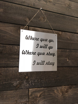 "Steel Roots Decor ""Where You Go"" Wall Décor"