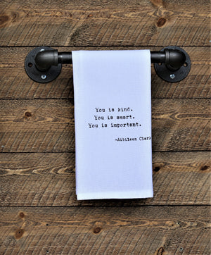 Steel Roots Decor You Is Quote Hand Towel