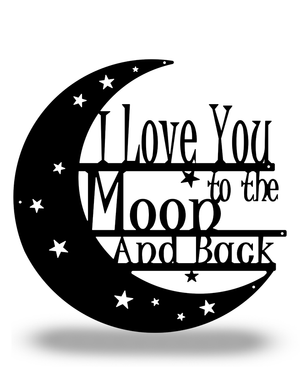 "SteelRootsShop Black / 12"" ""I love you to the Moon and Back"""