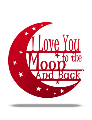 "SteelRootsShop Candy Red / 12"" ""I love you to the Moon and Back"""