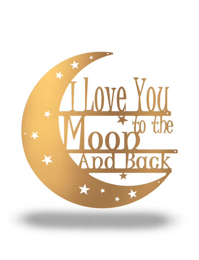 "SteelRootsShop Copper / 12"" ""I love you to the Moon and Back"""