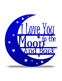 "SteelRootsShop Metallic Blue / 12"" ""I love you to the Moon and Back"""