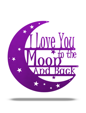 "SteelRootsShop Metallic Purple / 12"" ""I love you to the Moon and Back"""
