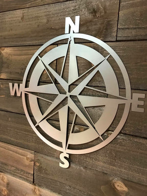 SteelRootsShop Natural Steel Nautical Compass