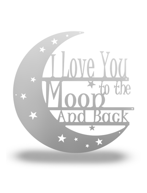 "SteelRootsShop Polished / 12"" ""I love you to the Moon and Back"""