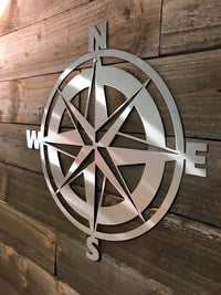 SteelRootsShop Polished Nautical Compass