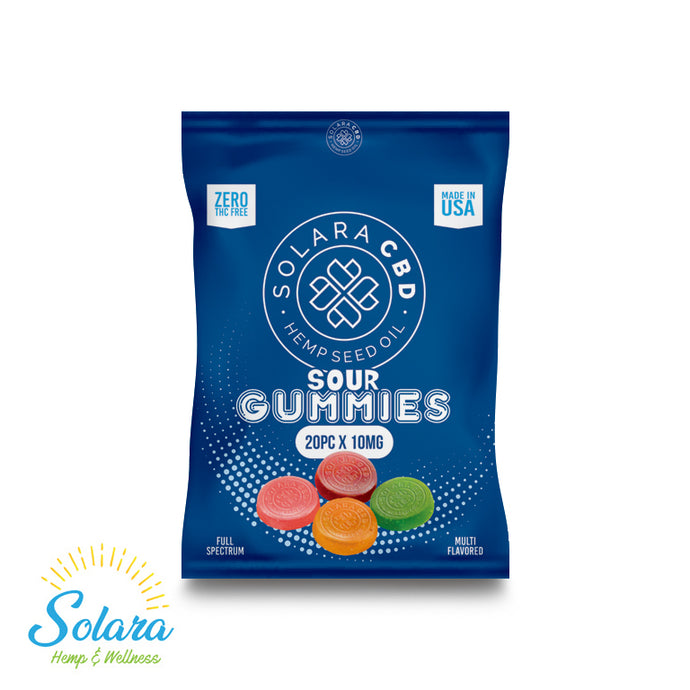 Solara CBD Full Spectrum Sour  Gummies 10mg 20ct