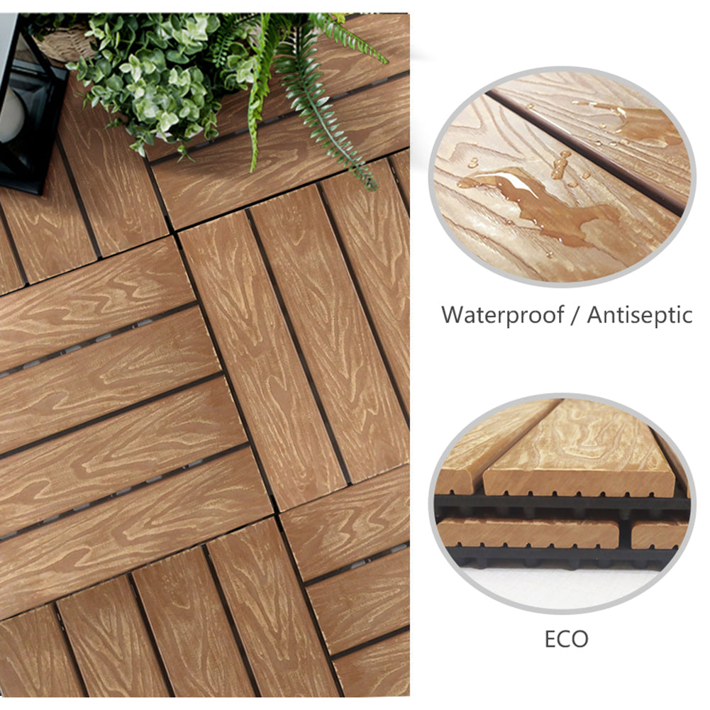 Interlocking Patio Flooring Tiles / Indoor Outdoor Deck / Patio Flooring