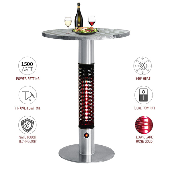 Patio Bistro Table Electric Infrared Table Heater