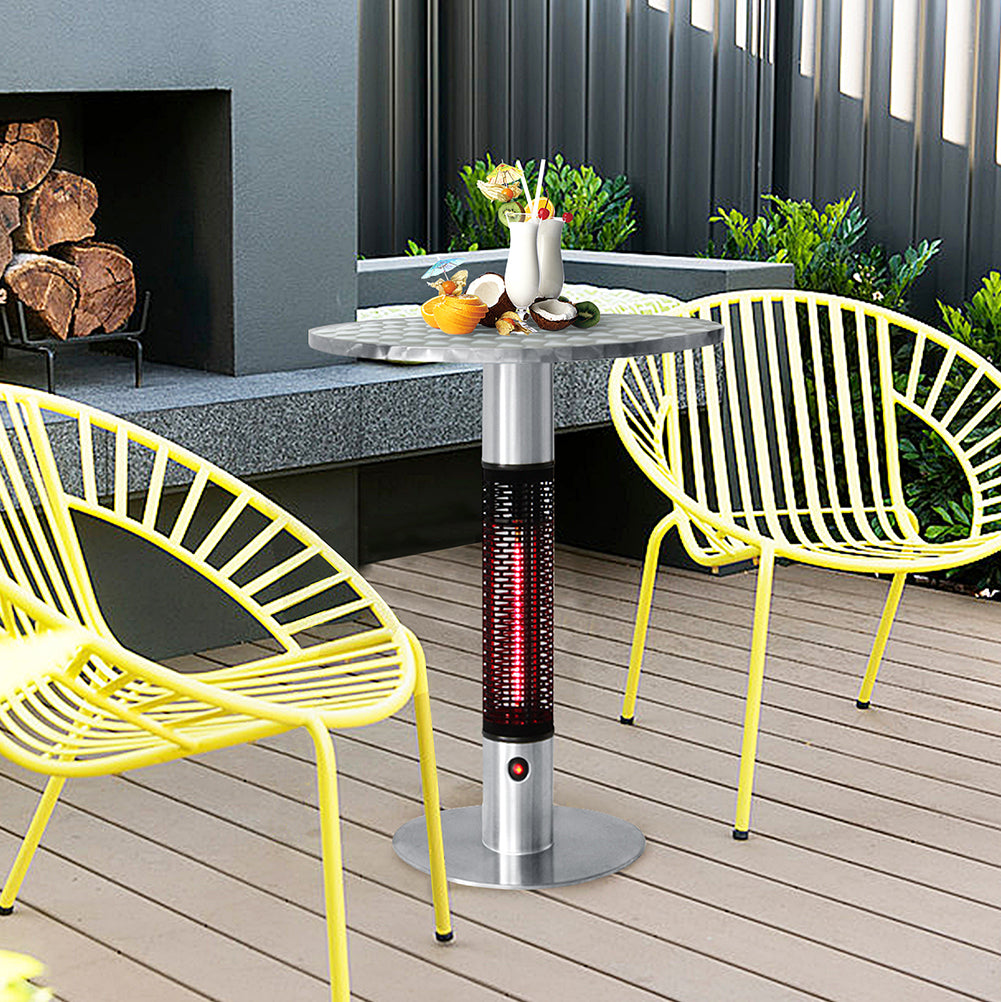 Patio Bistro Table Electric Infrared Table Heater Bistro