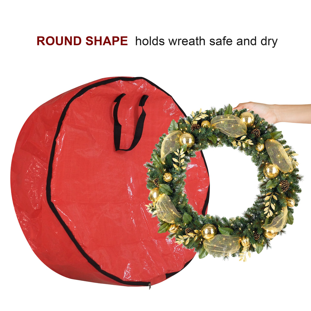 Wreath Storage Bag / Wreath Storage Container / Christmas Wreaths Bags